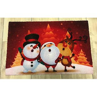 Christmas doormat of winter songs 40 x 60 cm borderless with bright colours