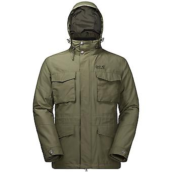 Jack Wolfskin Mens Port Hardy 3 in 1 Jacket Woodland Green (X-Large)