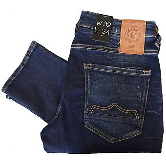 883 Police Moriarty La 359 Ripped Dark Washed Slim Fit Jeans