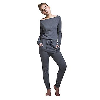 Dames loisirs Jumpsuit - gris Long Manche All-in-one Combi
