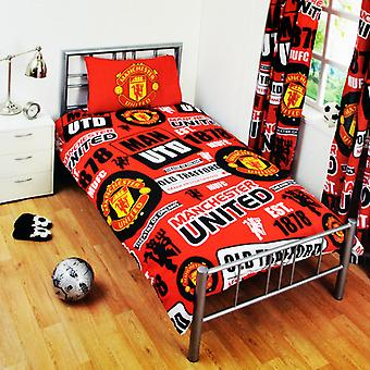 Manchester United FC Childrens/Kids Official Patch Football Crest Duvet Set