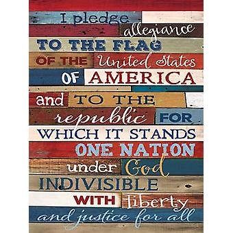 Pledge of Allegiance Poster Print by Marla Rae (18 x 24)
