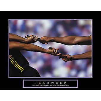 Teamwork - Passing The Baton Poster Print (28 x 22)