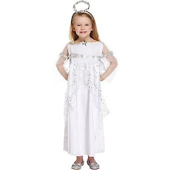 Children's Girls Christmas Angel Nativity Fancy Dress Costume - 4/6 Years