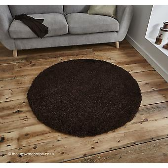 Vista Brown Circle Rug