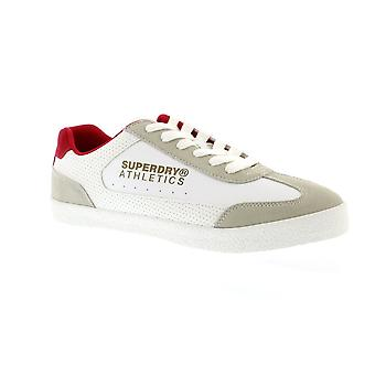 Superdry Superdry Athletics Trainer - White/Red (Textile) Mens Trainers