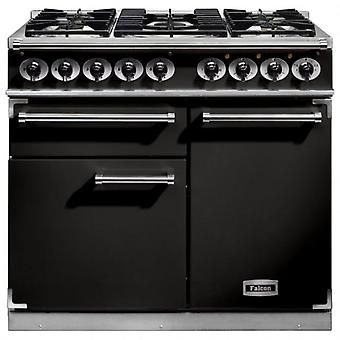 FALCON F1000DXDFBLCM 98600 100cm Deluxe Range Cooker, Black Finish