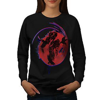 Ninja Mystic Art Women BlackSweatshirt | Wellcoda