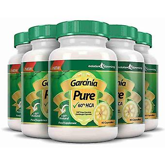 Garcinia Pure 100% Pure Garcinia Cambogia 1000mg 60% HCA - 6 Month Supply (5 Plus 1 Free) - Fat Burner and Appetite Control - Evolution Slimming