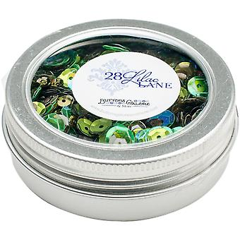 28 Lilac Lane Tin W/Sequins 40g-Redwood Grove LL314