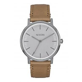 Nixon The Porter 35 cuir Gunmetal / Taupe (A1199-2799)
