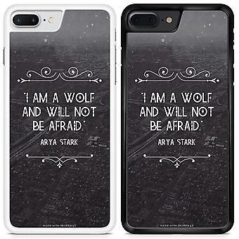 Citater jeg er en ulv og vil ikke være bange for Arya Stark spil af troner Custom designet trykt telefon tilfældet For Nokia 3 / Q07 / sort