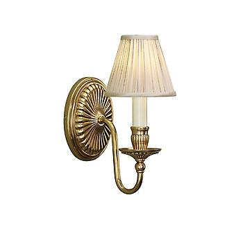 Interiors 1900 63821 Fitzroy Single Light Solid Brass Wall Fitting In