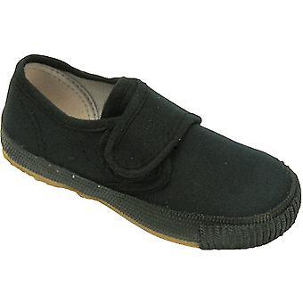 Mirak Boys 99248 Fastening Plimsoll Sneaker Trainer Black (Lge)