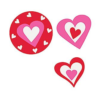 24 Card Heart Confetti Cutouts - Valentines Day Parties & Events