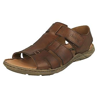 Mens Rieker Casual Strapped Sandals 22073-25 - Brown Leather - UK Size 9 - EU Size 43 - US Size 10