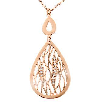 Orphelia Silber 925 Halskette Rose Tropfen geformt Zirc ZK-7188/RG
