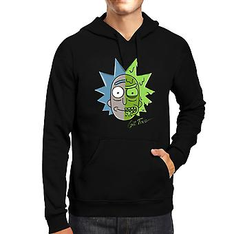 Rick And Morty Get Toxic Two Face Men's Hooded Sweatshirt