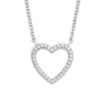 s.Oliver jewel ladies necklace-silver cubic zirconia SO PURE heart 2017258