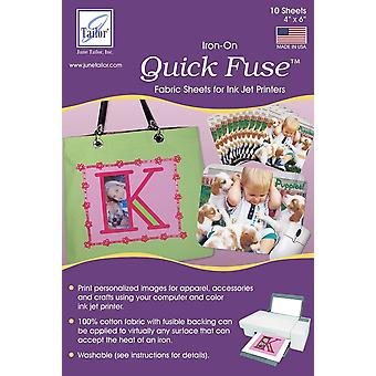 Quick Fuse Iron-On Ink Jet Fabric Sheets 4