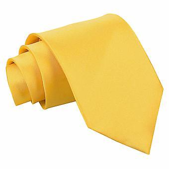 Marigold Plain Satin Classic Tie
