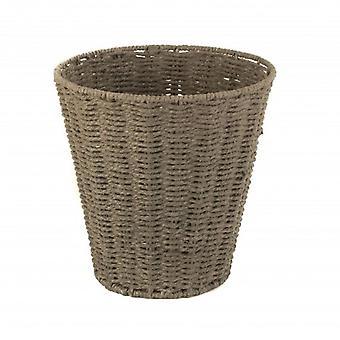 Grey Paper Rope Waste Paper Basket