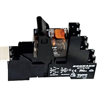 Relay component 1 pc(s) TE Connectivity XT4S4R24 Nominal voltage: 24 V AC Switching current (max.): 8 A 2 change-overs
