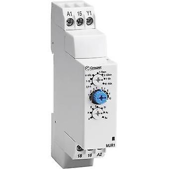 Crouzet MUR3 TDR multifunción 1 PC ATT. FX. RANGO de tiempo: 0,1 s - 100 h 1 paso
