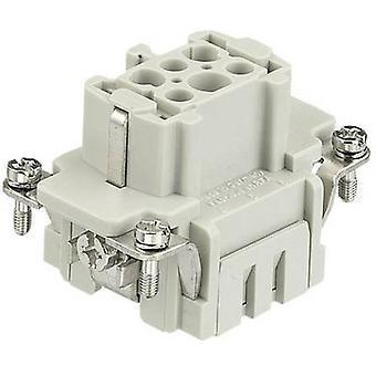 Socket inset Han® E 09 33 006 2716 Harting 6 + PE Spring-loaded 1 pc(s)