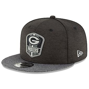 New Era Snapback Cap - Black Sideline Green Bay Packers