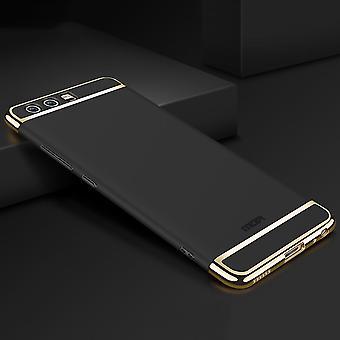 Etui téléphone portable Huawei P9 3 en 1 pare-chocs chrome Etui noir