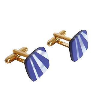 Lapis Lazuli TIMO gold plated mother of Pearl and lapis lazuli cufflinks