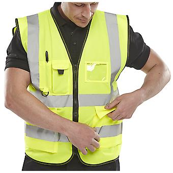 B-Seen Hi Vis Executive Safety Vest With Multi Pockets En471 - Wcengexe