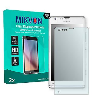 Sony Xperia SP Screen Protector - Mikvon Clear (Retail Package with accessories)