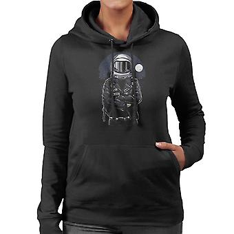 Astronaut Rebel Damen Sweatshirt mit Kapuze