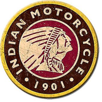 Indian Motorcycle 1901 round fridge magnet 75mm diameter (de)