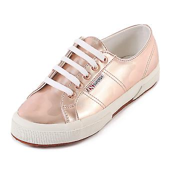Superga vrouwen 2750 Armychromw metalen Lace Up Trainer Rose goud