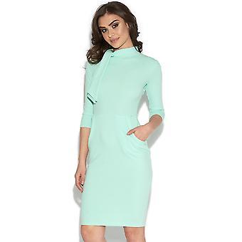 Midi Dress With Statement Collar