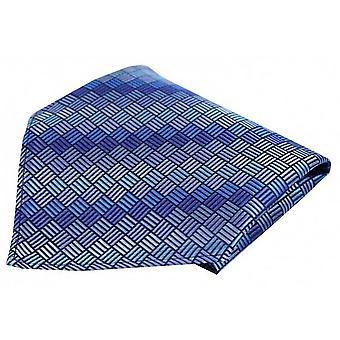 Posh and Dandy Box Pattern Luxury Pocket Square - Blue