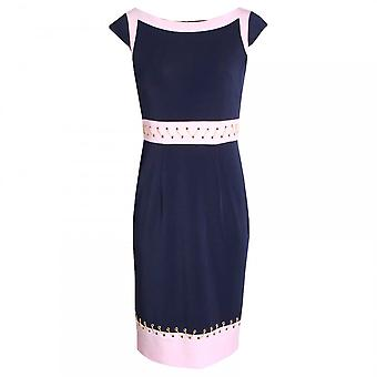 Dress Code By Veromia Capped Sleeve Dress With Gold Thread
