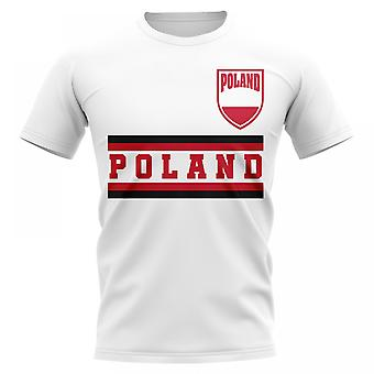 Pologne Core Football pays T-Shirt (White)