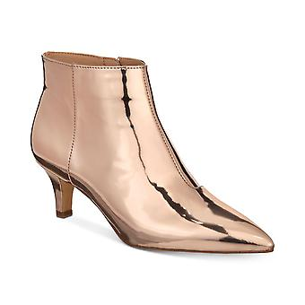 INC International Concepts Womens Zennora Leather Closed Toe Ankle Fashion Bo...