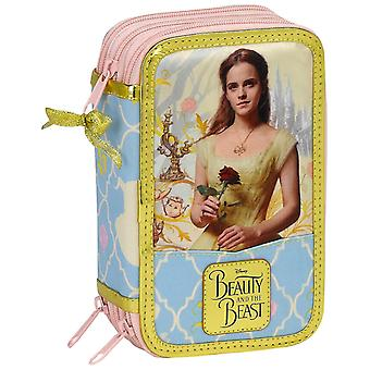 Disney Princess Belle 36-piece Triple Filled pencil case Skolset