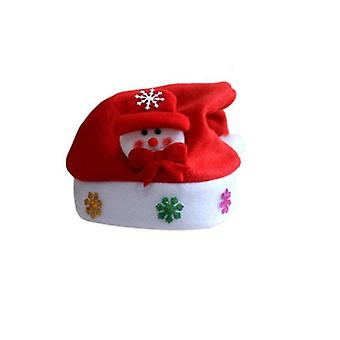 Santa hat with flashing scene-Snowman