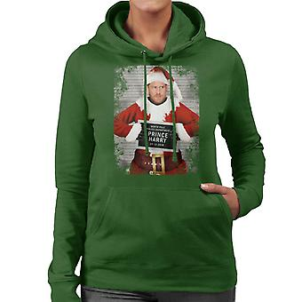 Christmas Mugshot Prince Harry Beard Women's Hooded Sweatshirt