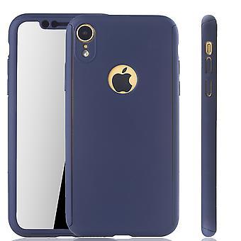 Apple iPhone proteção completa tampa tanque proteção vidro azul XR móvel caso