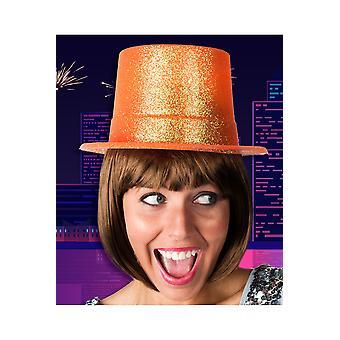 Chapeaux haut-de-forme Orange paillettes