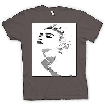 Mens T-shirt - Madonna - grijs