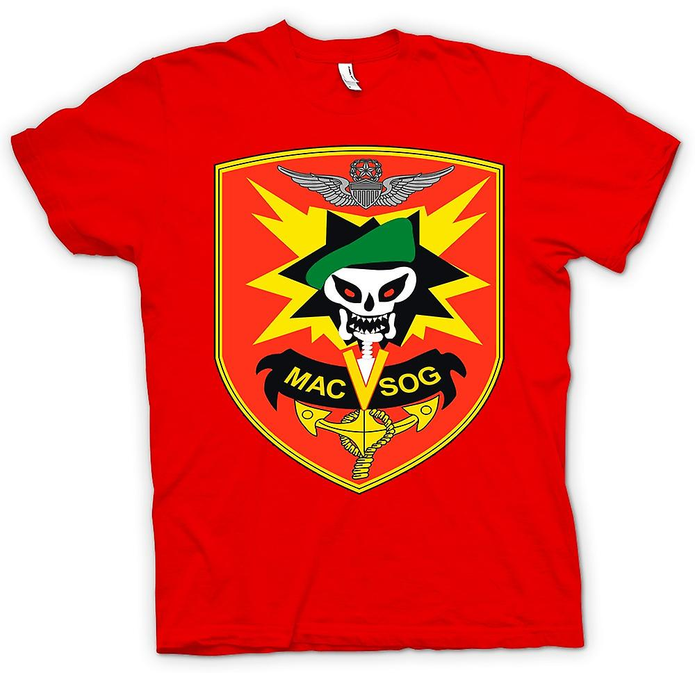 Herr T-shirt-MACV-SOG Special Forces Badge