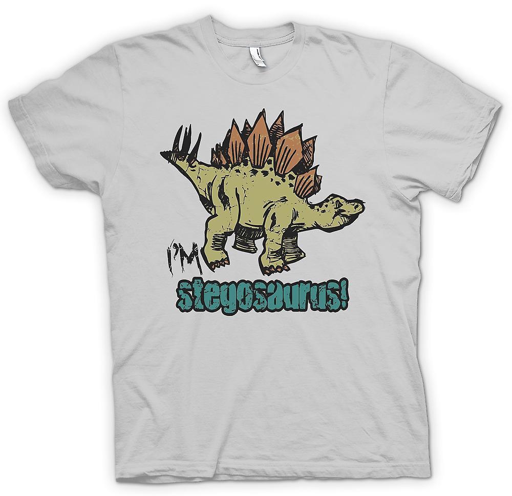 Mens t-skjorte - Im Stegosaurus - Cool Dinosaur